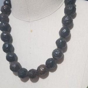 Vintage Jewelry - Wooden Statement Necklace
